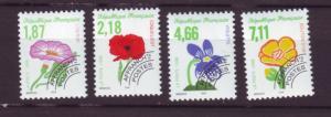 J20354  jlstamps 1998 france set mnh #2666a-6d flowers