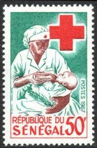 Senegal 297, MNH. Senegalese Red Cross. Nurse Feeding Child, 1967