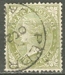 Jamaica; 1886: Sc. # 21: O/Used Single Stamp