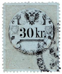 (I.B) Austria/Hungary Revenue : Stempelmarke 30kr