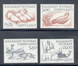 Greenland Sc 358-61 2000 Arctic Vikings stamp set mint NH