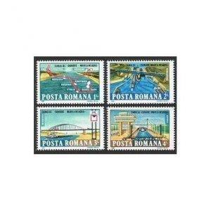 Romania 3266-3269,3270,MNH.Mi 4144-4147,Bl.216. Danube-Black Sea Canal,1985.