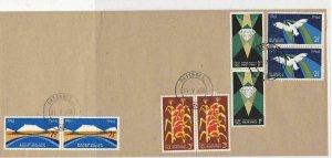 South Africa 1966 Nigel Cancel Birds Corn Diamonds Landscape Stamps Cover  29308