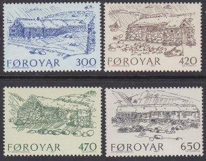 Faroe Islands Sc #152-155 MNH