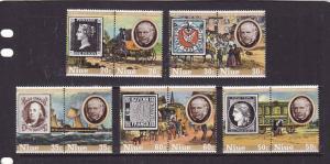 Niue-Sc#241-50-unused NH set-Stamp on Stamp-Penny Black-1979-