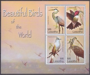 Lesotho MNH S/S Beautiful Birds Of The World 2007