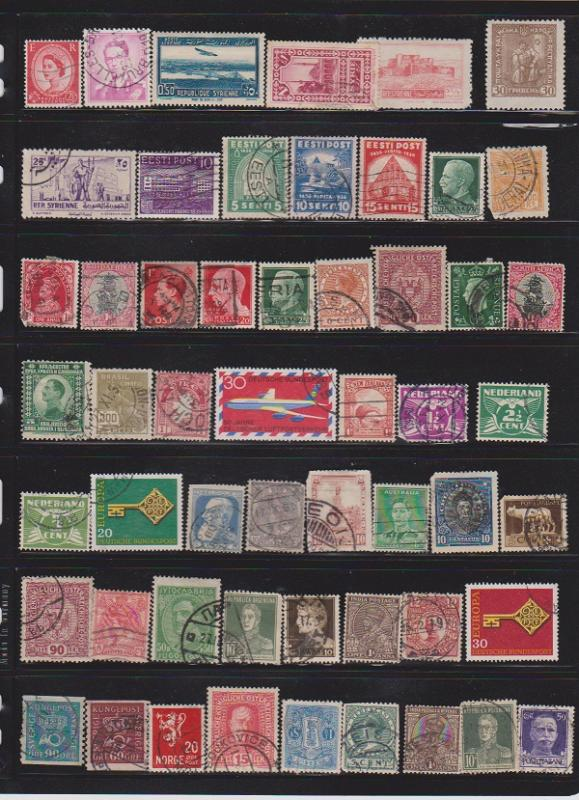 LOT OF DIFFERENT STAMPS OF THE WORLD USED (54) LOT#116