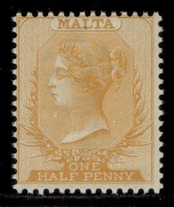 MALTA QV SG19, ½d red-orange, NH MINT. Cat £18.