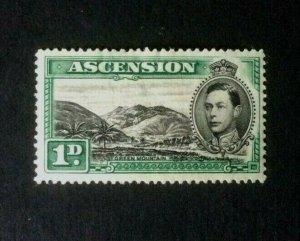 Ascension: 1938, King George VI definitive, 1d black &green SG39, Mint