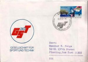 Germany D.D.R., First Day Cover, Sports