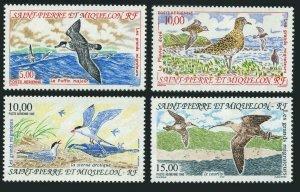 St Pierre & Miquelon C69-C73,MNH. Migratory birds 1993-1996.Puffin,Plover,Falcon