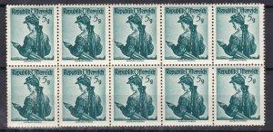AUSTRIA ^^^^^1950's  MNH   BLOCK of 10   ( Costumes) $$@ta413ostt