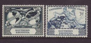 1949 Southern Rhodesia UPU Set Mounted Mint SG68/69