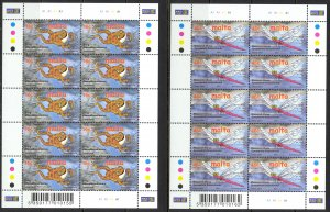 Malta Sc# 1053-1054 MNH Pane/10 2001 Europa