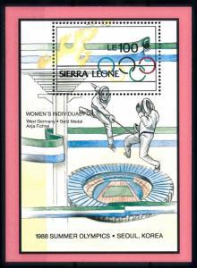 [92305] Sierra Leone 1989 Olympic Games Seoul Fencing Sheet MNH