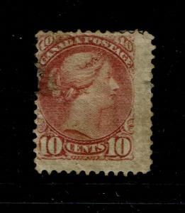 Canada SC# 40, Used, large side thin & small shallow side thin, see note - S3889