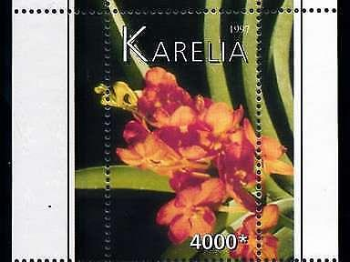 [79829] Karelia Local Issue 1997 Flora Flowers Blumen Orchids Sheet MNH