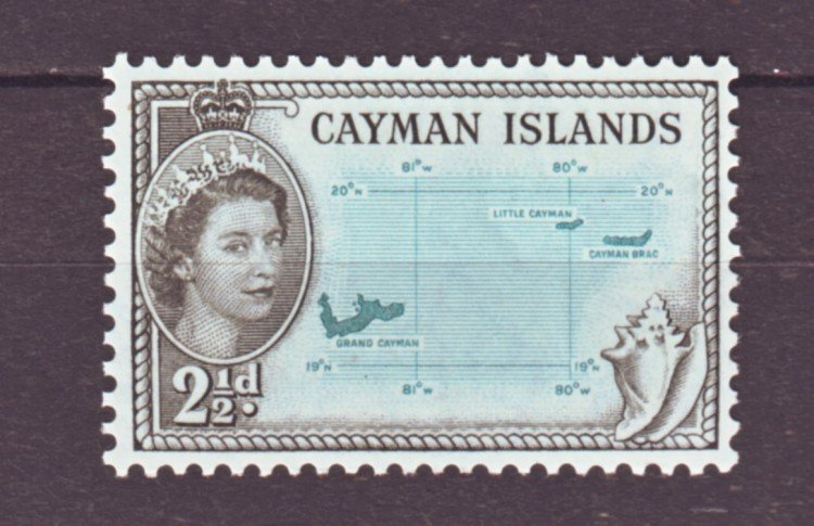 J22169 Jlstamps 1953-9 cayman island part of set mnh #140 map