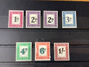 South Africa 1950 postage due  mounted mint stamps  Ref 57135