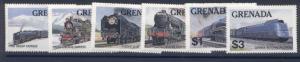 Grenada 1120-5 MNH Trains, Locomotives