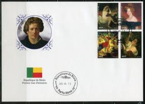 BENIN  2018  RUSSIAN PAINTER  KARL BRIOULLOV  SET  OF  FOUR  FIRST DAY COVER