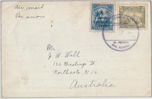 58731 -  VENEZUELA  - POSTAL HISTORY: POSTCARD to  AUSTRALIA  1934