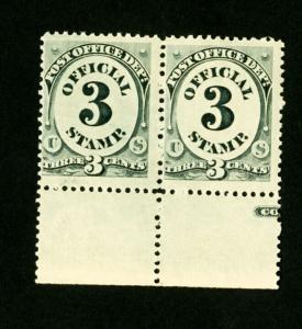 US Stamps # O108 VF OG NH Pair