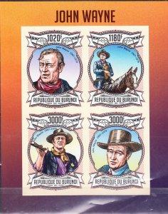 Burundi MNH S/S John Wayne Actor 2013 4 Stamps