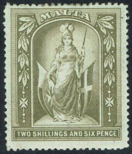 MALTA 1899 FIGURE 2/6 WMK CROWN CC
