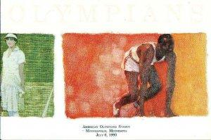 USPS CEREMONY PROGRAM 2500A Olympians 5 Stamps