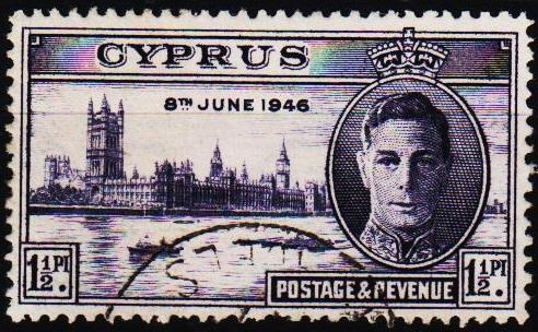 Cyprus.1946 1 1/2pi S.G.164 Fine Used