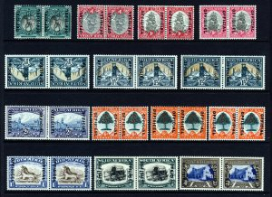 SOUTH AFRICA 1935-49 OFFICIAL Overprinted Set + VARIETIES SG O20 to SG O27 MINT