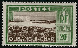 Ubangi-Shari Postage Due (Sc J14) F-VF Mint OG hr..French Colonies are Hot!