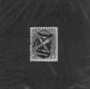 SC# 78 USED 24c WASHINGTON 1862 FANCY WEDGES GEOMETRIC CANCEL TAKE A LOOK