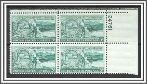 US Plate Block #1019 Washington Territory MNH