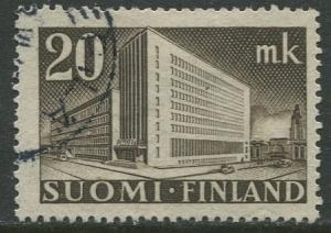 Finland - Scott 248 - Helsinki Post Office -1945- Used - Single 20m Stamp
