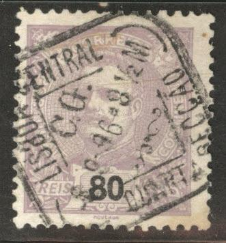 Portugal Scott 123 Used from 1899-1905 King Carlos set