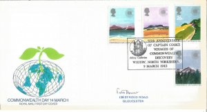 Royal Mail First Day Cover Commonwealth Day 14 March 1983 Captain Cook PM U2975