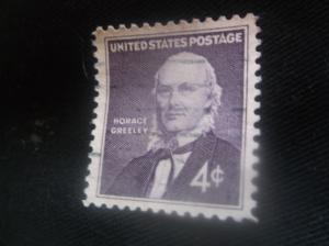 United States Horace Greeley 4 Cent