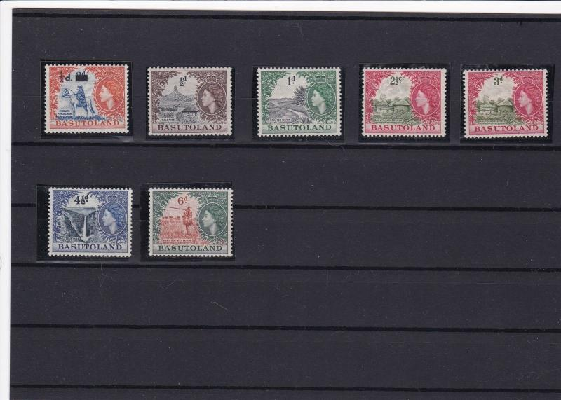 basutoland mounted mint stamps ref 16574