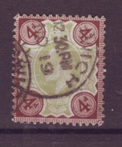 J17600 JLstamps 1902-11 great britain used #133 KEVII