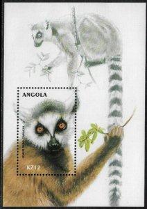 Angola #1133 MNH S/Sheet - Lemur - 40% Cat.