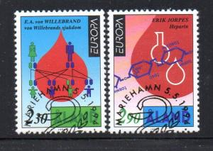 Aland Sc 82-3 1994 Europa Inventions stamps used