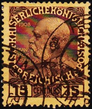 Austria(Turkey).1908 15c S.G.F19 Fine Used