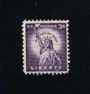 USA #1035  1 used 1954-1968 PD .08