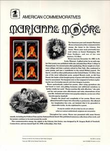 US CP350 Marianne Moore 2449 Commemorative Panel Mint