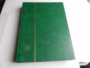 Stamp Stock Books 24 Pages with 9 Glasines Strips Green Good Condition