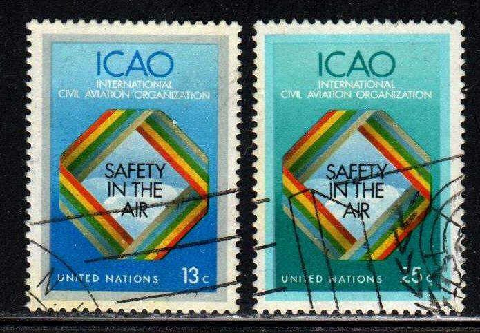 United Nations # 298-99 ~ Cplt Set 2  ~ Used (cto) ~ cv .40