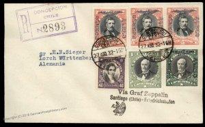 Chile 1932 Graf Zeppelin 5th South America Flight SAF Si175 Cover 92733