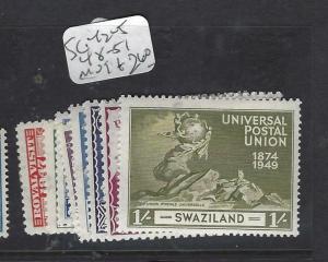 SWAZILAND  (P1901B)   KGVI  RV, UPU  SG 42-5, 48-51   MOG